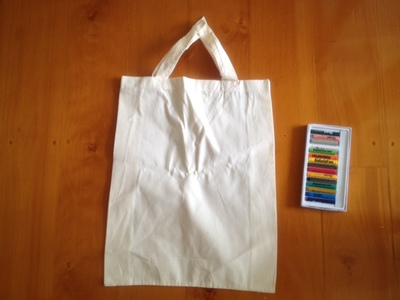 calico bag handmade fabric paint