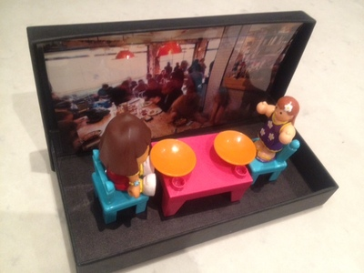 doll handmade dolls house holiday scene