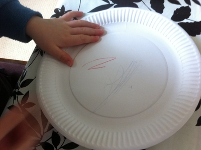 paper plate, snake, kids, craft, art, crayon